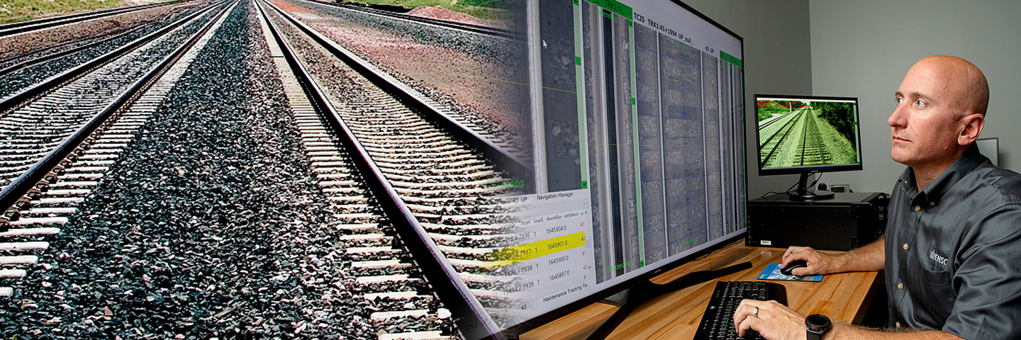 Virtual Track Walk - High-resolution Track Imaging Inspection Software by ENSCO Rail