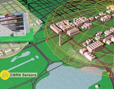 ENSCO's CBRN warning and decision support system for large buildings and compound security.