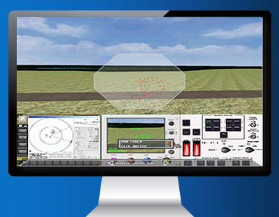 Flight-Simulation - Custom Developed HMI Display from ENSCO Avionics