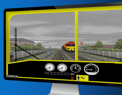Custom Developed HMI Rail Locomotive Displays Simulation from ENSCO Avionics