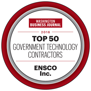 ENSCO Selected 2016 Top 50 Government Technology Contractors by Washington Business Journal