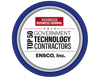 ENSCO - Washington Business Journal Top 50 Government Contractors Award 2015
