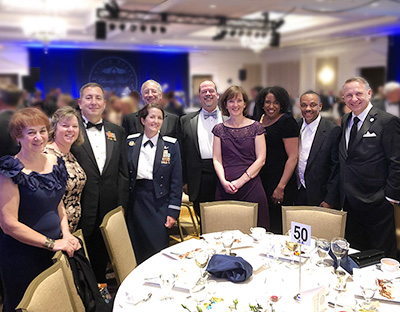 ENSCO attendees at the USAF Charity Ball 2019
