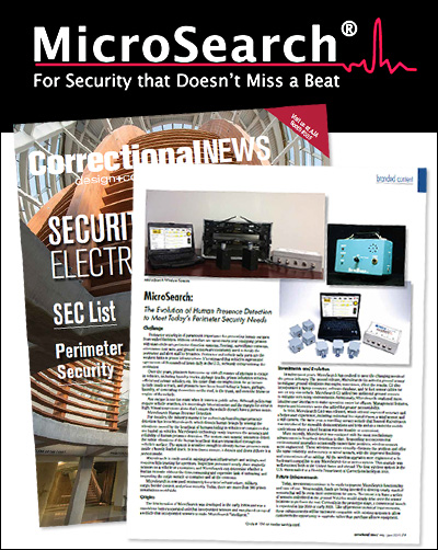 MicroSearch Human Presence Detection Featured in Correctional News Magazine